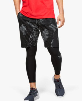 Shorts de Treino Masculino Under Armour Project Rock Terry Printed